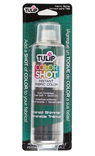 Tulip Colorshot instantanée Tissu Couleur 85 gram., Emerald Shimmer, 3 oz