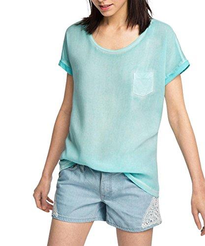 esprit-026ee1k054-materialmix-t-shirt-femme-blau-turquoise-470-40-taille-fabricant-m