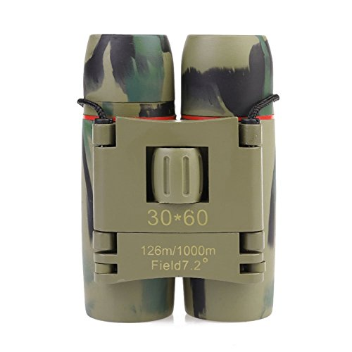 GuDoQi® 30 X 60 Zoom Binoculares Plegables De Viaje