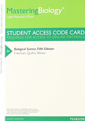 Biological Science, Volume 1 with Access Code: The Cell, Genetics, & Development