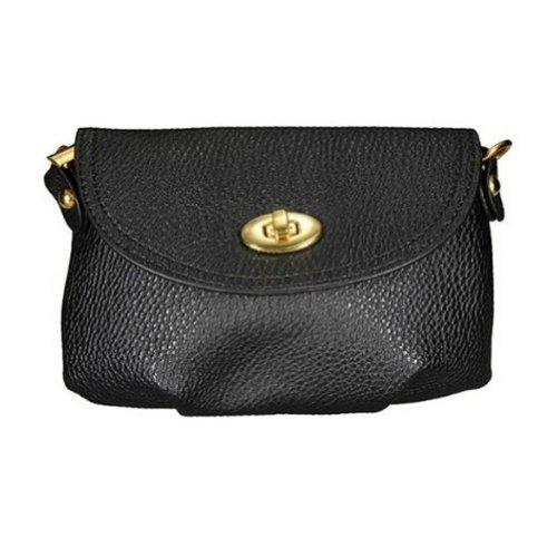 SODIAL (R) Frauen Lady Handtasche, Cross Body Handtasche Totes Taschen Schulter Messenger Schwarz schwarz