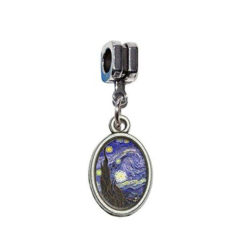 incent van Gogh italienischen europäischen Euro-Stil Armband Charm Bead–für Pandora, Biagi, Troll,, Chamilla,, andere (Starry Night Kostüm)