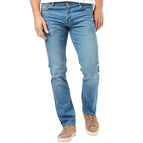 Lee Cooper Mens Neue Basicon Regelmäßigen Passform Gerades Bein Jeans Licht Waschen Lightwash