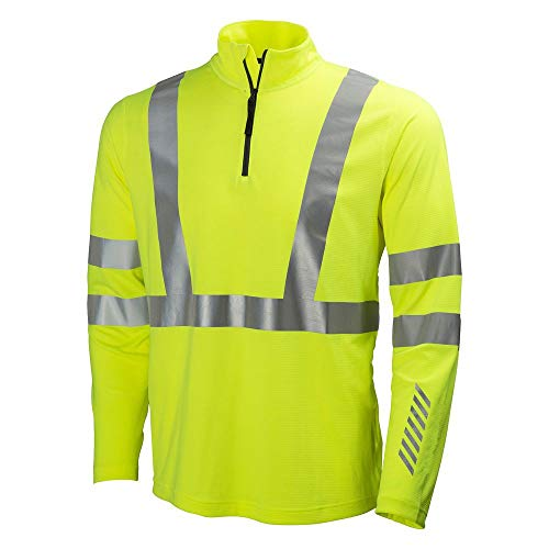 Polypropylen-zip-kragen-shirt (Helly Hansen Workwear Warnschutz Langarmshirt Esbjerg Polo Zip Longsleeve Shirt EN471, 4XL, gelb, 75019)