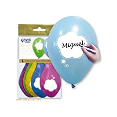 Idea Regalo - Viole palloncini personalizzabili colori assortiti 29x 36cm Borsa 6unità