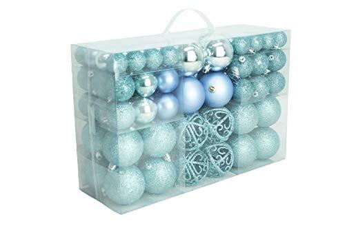 Decorazioni Albero Di Natale Blu : Geschenkestadl palline di natale blu ghiaccio lucido
