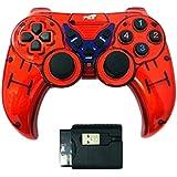 اداة تحكم بالالعاب لاسلكية 5 في 1 EX-WL2023PUP من اكسترا- احمر واسود