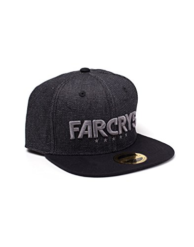 Bioworld EU Far Cry 5 Embroidered Logo Denim Snapback Baseball Cap, Black (Black Black), One Size