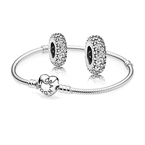 Original-Pandora-Geschenkset-1-Silber-Armband-mit-Herz-Schliee-590719-und-2-Mal-Silber-Zwischenelement-Pav-Inspiration-791359CZ