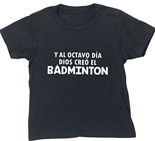 HippoWarehouse Y Al Octavo Día Dios Creó El Bádminton camiseta manga corta niños niñas unisex