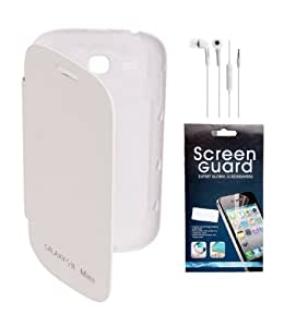 KolorEdge Flip Cover + Screen Protector + Handfree For Galaxy S3 - White