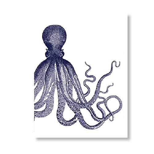 Robert E Lee Für Kinder - XFkbeA Octopus Wasser Vintage-Poster und Drucke