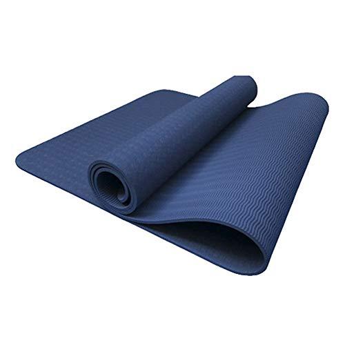 ZhHaoXin Motion Yogamatte Umweltfreundliches TPE Prallt Schnell, Rutschfeste, Wasserdichte Und Klare Linien Ab, Fitness Matte Für Yoga Pilates Fitness Gymnastik, Dark Blue