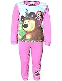 April Clothing Mädchen Offiziell Lizenzierte Masha and Bear Long Length Pyjamas