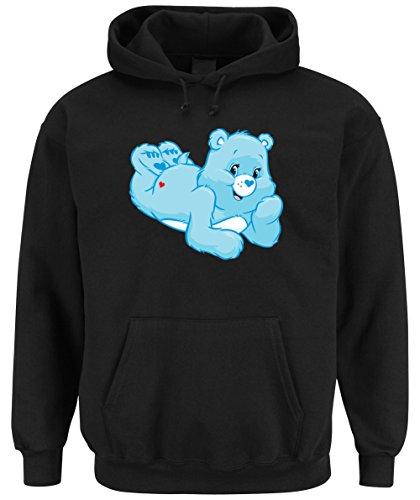 Good Night Bear Hooded-Sweater Black Certified Freak-S (Baumwolle Bear Sweatshirt Black)