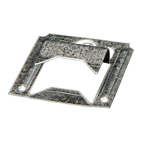 Fuchs Metalltechnik 2-100-004-0000-20 Profilholzkralle Nr. 4 Stahlband-verzinkt für Nut/Feder-Montage (1 PK=250 Stk.)