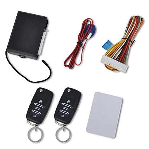 vidaXL Auto Zentralverriegelung Set Universal Funkfernbedienung Klappschlüssel