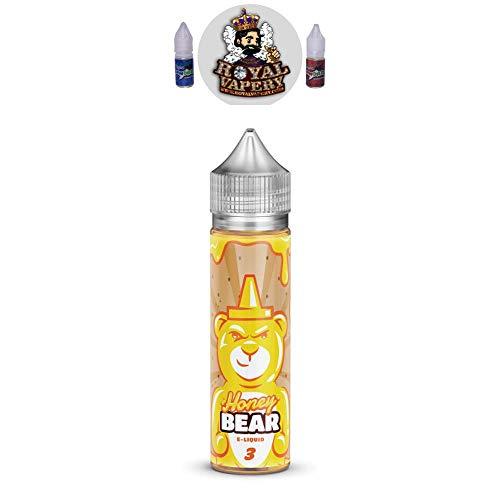 Vape Flurry: Vape E Juice Honey Bear E Liquid Villa Vape Flurry American  E-Liquid 0mg 50ml Shortfill Shisha Pen Refill No Nicotine High VG Liquid
