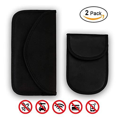 z Autoschlüssel RFID Schutzhülle, NFC Blocker Strahlenschutz Tasche Etui Schlüsseletui Schutzhülle Autoschlüssel Safe(2 STK) ()