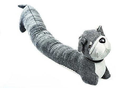 Zugluftstopper Türen in Form von Hund grau