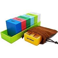 Meta-U wöchentlicher Pillendosen - intelligenter Pillenbox Medikamen- 4 Fächer für jeden Tag - geruchlos - mit... preisvergleich bei billige-tabletten.eu