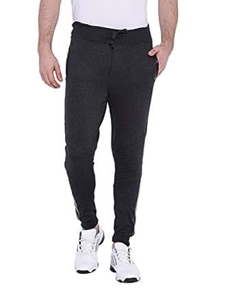 Campus Sutra Men Track Pant - Grey (AZ17_TPLDRPK_M_PLN_CH_AZ_M)