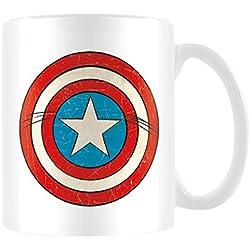 Marvel MG23442 8 x 11,5 x 9,5 cm retro de Capitán América deportes de taza de cerámica, Multi-color