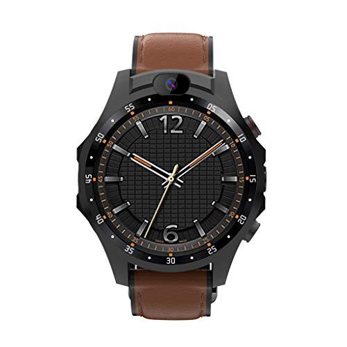 Smart Watch, Chshe TM, 3 Gb + 32 Gb 4 G Sport Smart Watch X361 FüR Android 7.1.1 5Mp Kamera Fitness Tracker Herzfrequenz Wifi Gps Bt4.0 Smart Watch Frauen MäNner(Braun) (Gsm 1800-entsperrt Handy)
