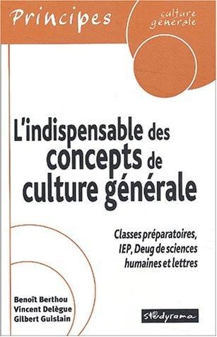 L'indispensable des concepts de culture gnrale