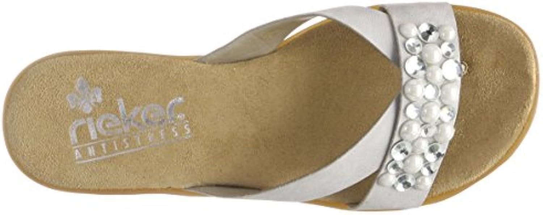 Rieker Womens V3475 Flip Flops Grey 8 Uk Aeb318 D Island Shoes Casual Zappato England Suede Black