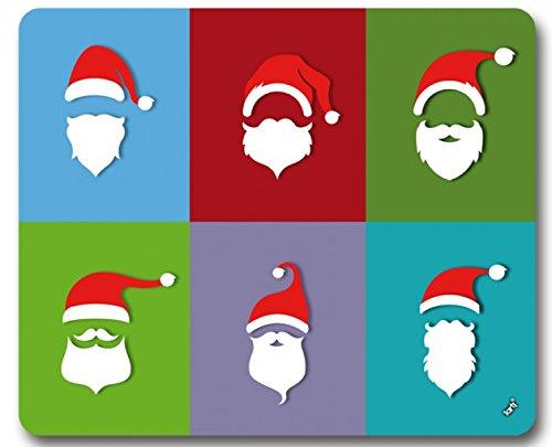 1art1 92345 Weihnachtsmann - Bart Trends, Pop-Art Mauspad 23 x 19 cm