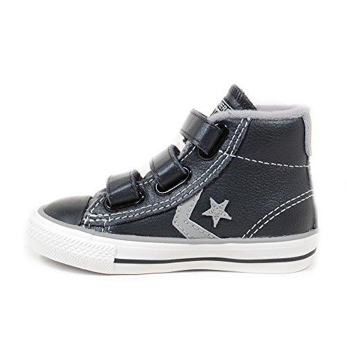 Converse  Star Player 3V Leather Mid,  Unisex-Kinder Sneaker Schwarz - Schwarz