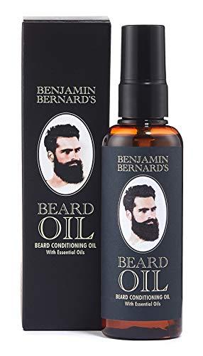 Bartöl Conditioner für Männer zur Bartpflege - 100 ml Beard Oil von Benjamin Bernard - Gesundes Bartwachstum und gepflegter Bartstil wird gefördert - parfümiert - Weichmacher Conditioner