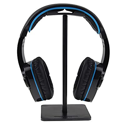 Support pour Casque Audio en Aluminium - Robuste Headphones Stand - pour Les Casques Sennheiser, Sony, Bose, Shure, AKG, Panasonic, et Bien d'autres, Noir par ISWEES
