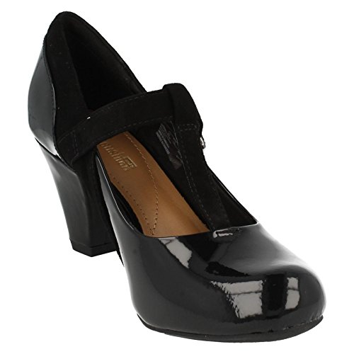 CLARKS Clarks Ladies Shoes Coolest Lass Black Combi Black Comb