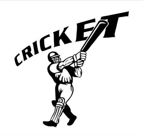 Wandaufkleber Baseball-Spieler Cricket Zitat Abnehmbare 3D Poster Wasserdichte Wandtattoos Sport Wandbild Für Kinderzimmer Wohnkultur 59X59 Cm (Cricket-spieler)