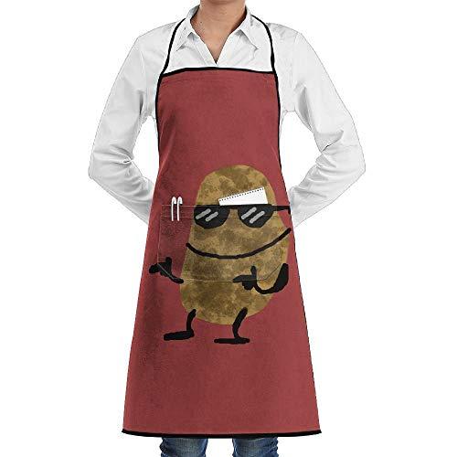 Pillowcase Wholesale Cool Sunglass Potato Men & Women Bib Chef Kitchen Apron with Pockets