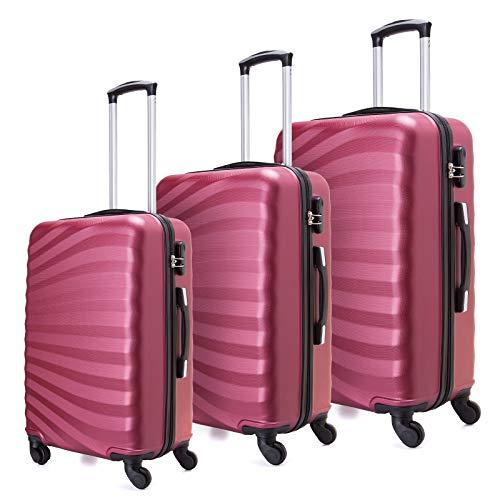 Juego maletas livianas cáscara dura 3 piezas 20