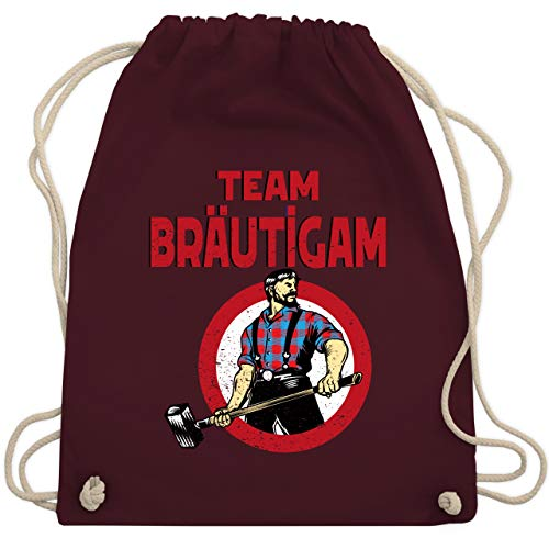 Gym Kostüm Bro - JGA Junggesellenabschied - Team Bräutigam JGA Comicfigur - Unisize - Bordeauxrot - WM110 - Turnbeutel & Gym Bag
