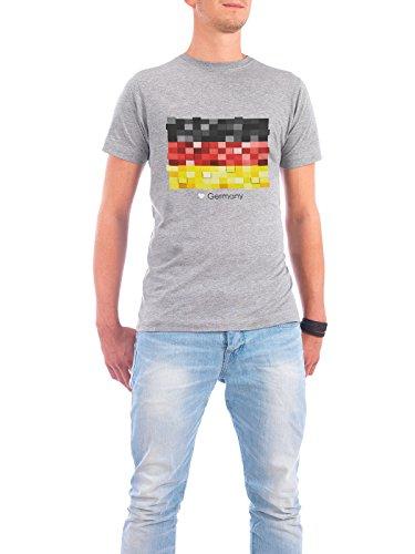 """Design T-Shirt Männer Continental Cotton """"Germany Flag"""" - stylisches Shirt Reise Reise / Länder von GREENGREENDREAMS Grau"""