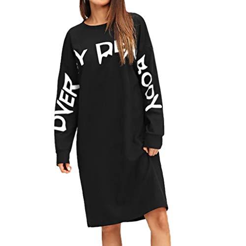 Damen V-Ausschnitt Print Langarm, Hawkimin Lose Tops T-Shirt Bluse Mode Dame Tshirt Lange ärmel Shirt Casual Leger Langarmshirts Rundhals Ausschnitt Beiläufiges Hemd Pullover Sweatshirt Oberteil