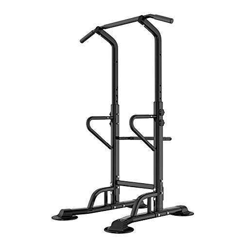 Barre de Traction Ajustable Workout Dip Station Fitness Power Tower Chaise Romaine pour l'entraînement à la Maison Physique D'entraînement de Musculation, PSBB002