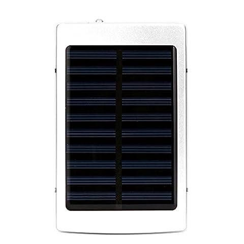 Chargeur solaire, fonte Power 20000mAh Portable Double USB solaire Chargeur de batterie externe batterie Téléphone Chargeur Power Bank pour iPhone, iPad, Samsung, tablette, etc, avec LED Emergency Outdoor Camping