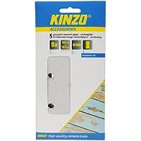 Kinzo 71723 5 Feuilles Papier abrasif pour décapage peinture 93 x 187 mm G180