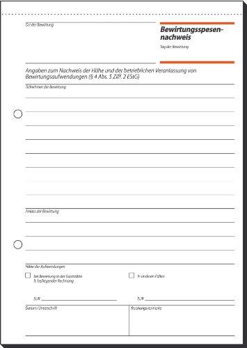 Sigel GB515 Bewirtungsspesennachweis / Gaststättenrechnung, 2seitig bedruckt, A5, 3 Stück á 50 Blatt