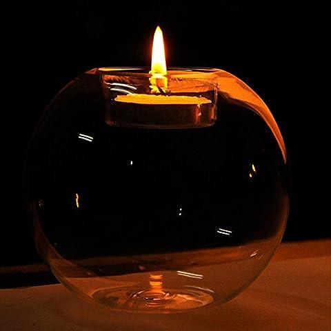 Homestia 4x Vela Del Vidrio Cristalino Boda Del Sostenedor Del Partido Decoración Tabla Centrepiece