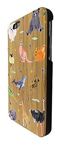 C0849 - Cool Fun Zoo Animals Bear Ostrich Giraffe Lion Kangaroo Squirrel Wildlife Design iphone 6 6S 4.7