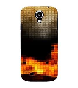 PrintVisa Modern Art Fire Design 3D Hard Polycarbonate Designer Back Case Cover for Samsung Galaxy S4 Mini