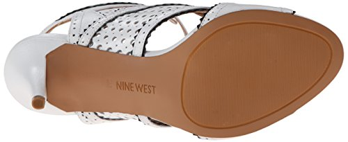 Nine West Danyell Cuir Talons Wht-Blk