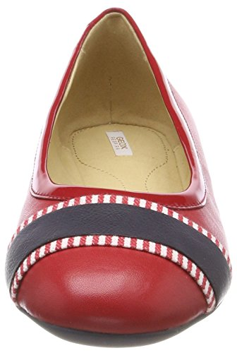Geox D Lamulay C, Ballerine Donna Rosso (rouge / Marine)